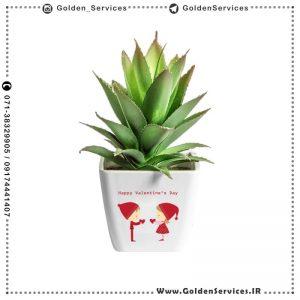 چاپ طرح دلخواه روی گلدان سرامیکی - طرح ولنتاین