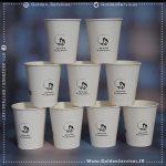 طراحی و چاپ روی لیوان کاغذی سفید - باشگاه کوهنوردی ردپا