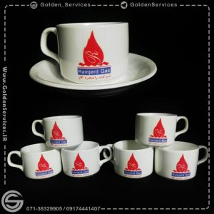 طراحی و چاپ روی فنجان تبلیغاتی - شرکت رامجرد گاز