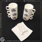 طراحی و چاپ روی فنجان - مطب دکتر باوی
