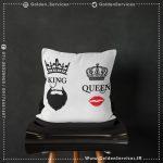 چاپ کوسن - طرح KING & QUEEN