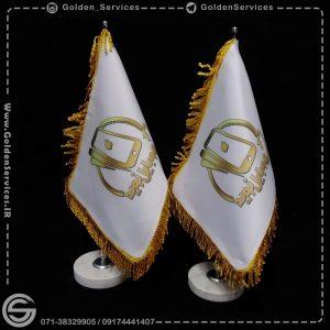 چاپ طرح دلخواه روی پرچم رومیزی - موبایل نوید