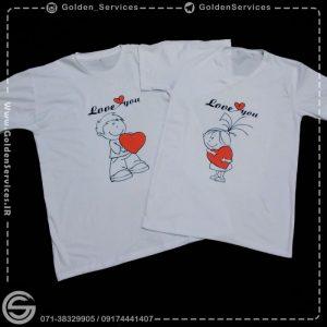 چاپ تیشرت - طرح love