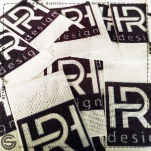 چاپ اتیکت لباس کتان و کنف - تولیدی HR design