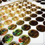 چاپ هولوگرام اختصاصی طلایی - شرکت صنعتگران کیمیای بهنیا